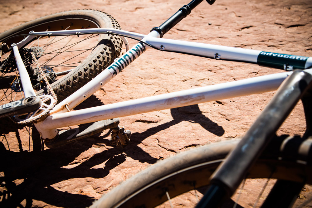Advocate Cycles Hayduke on the White Rim in Canyonlands National Park, Utah.