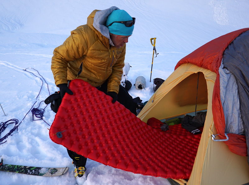 Sea to Summit Comfort Plus Insulated Sleeping Pad into Tent