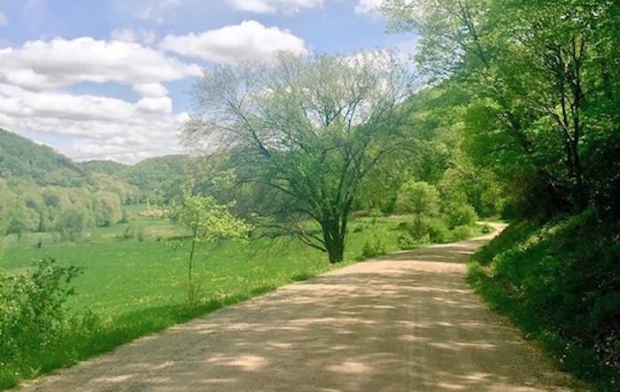 Irish Hollow Road outside Lansing Iowa