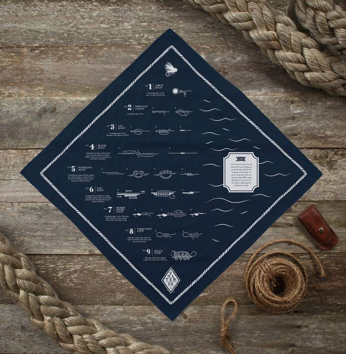 fly fishing knot bandana