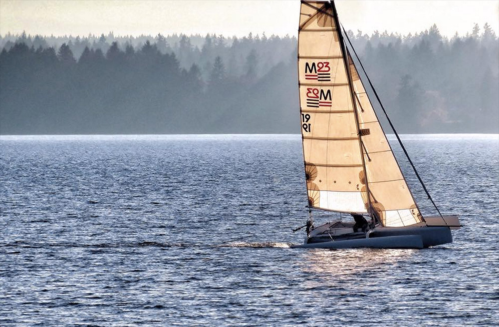 Team 'Y Triamoto' to race a trimaran - one of many options on the course