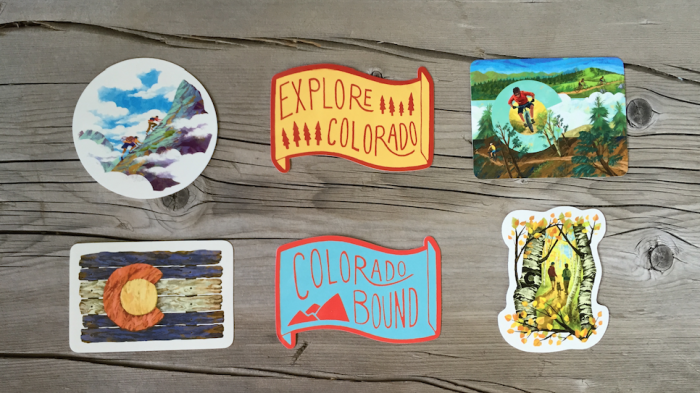 7. Sticker Pack - Colorado Adventure Sticker 6 Pack on Amazon [expanded]