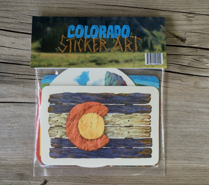 8. Sticker Pack - Colorado Adventure Sticker Pack on Amazon [packaged]