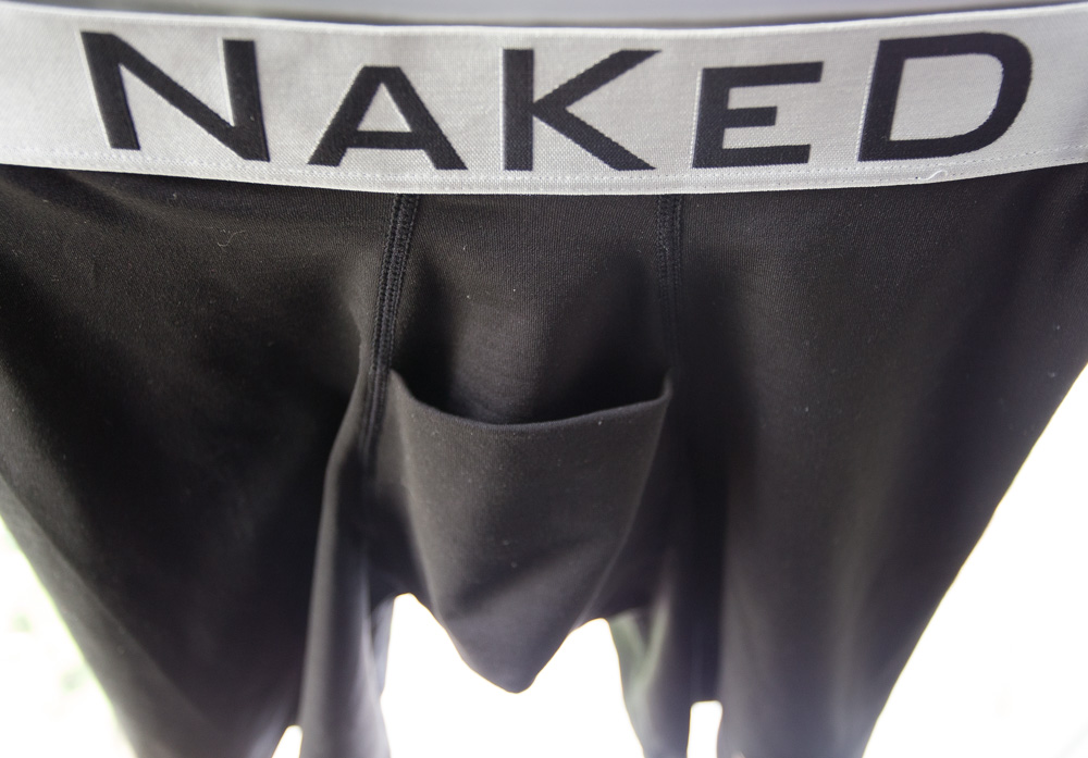Naked Silver Underwear Mens Horizontal Fly