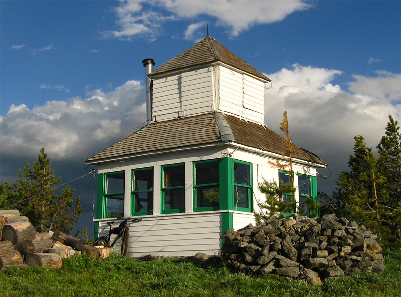 Cabin in the sky stay in fire lookout this summer for The lookout tiny house