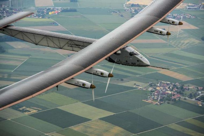 Solar Impulse 2 flying