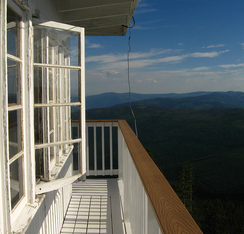 Webb Mountain lookout view