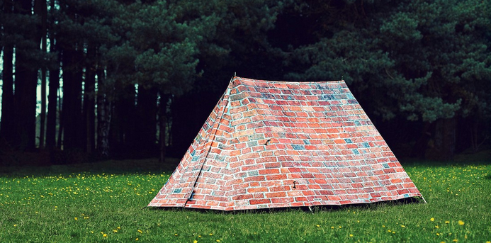 brick and mortar tent