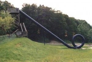 The original 'loop' water slide was quickly shut down.