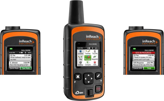 DeLorme InReach GPS Exporer With Two-Way Satellite Communicator