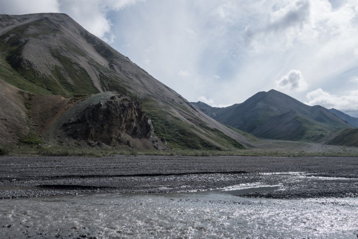 In Denali, rangers encourage people to walk on sand bars to prevent paths from forming.