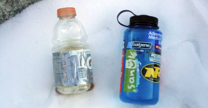 backpacking and pee bottle