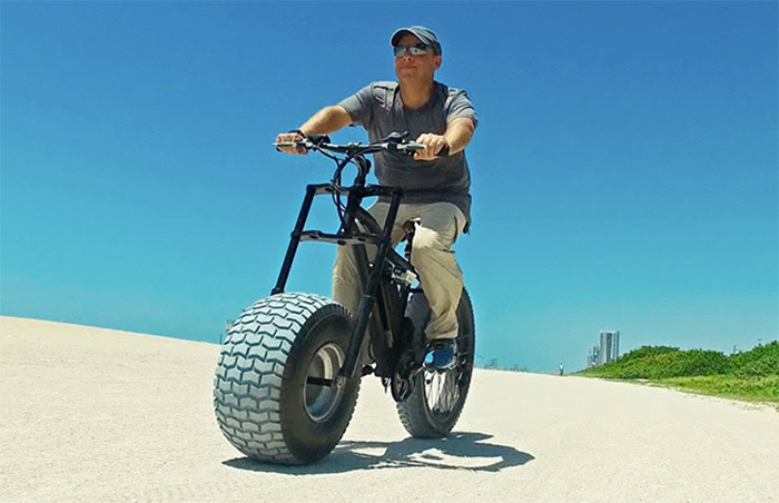 Ultra Fat Sand Bike Designed For Soft Beaches Mud