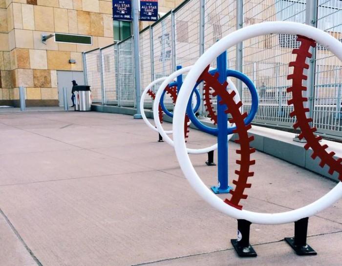 Baseball racks. Target Field in Minneapolis, MN.