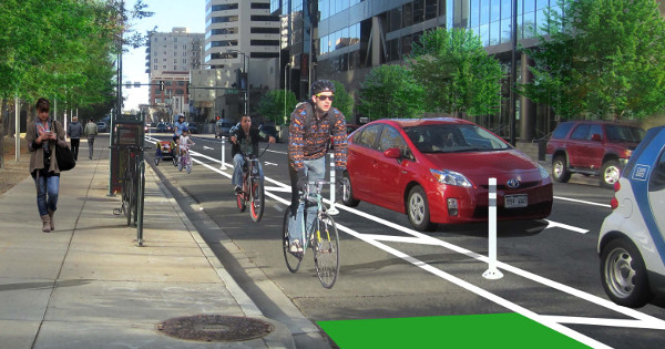 Colorado will spend $100 million on improved bike infrastructure over four years; Photo by People For Bikes