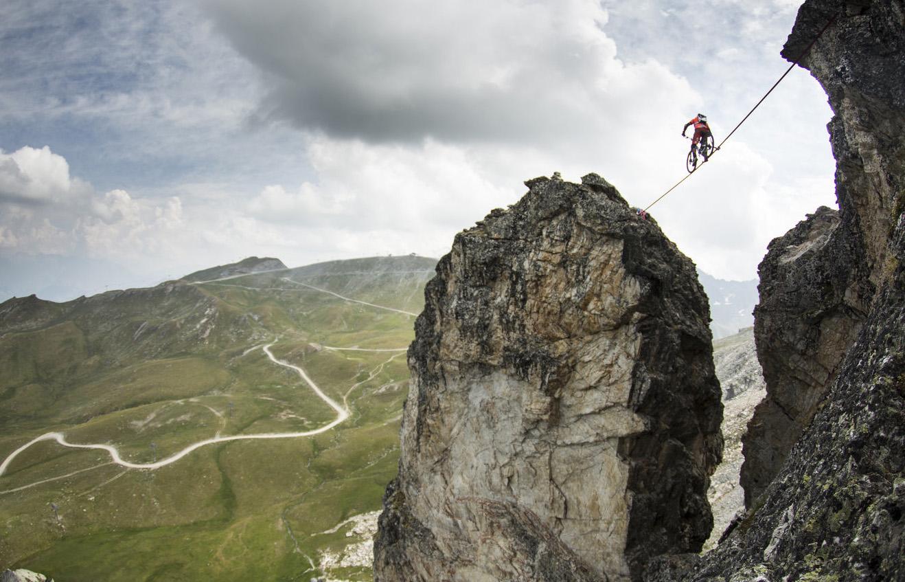 mountain bike slackline