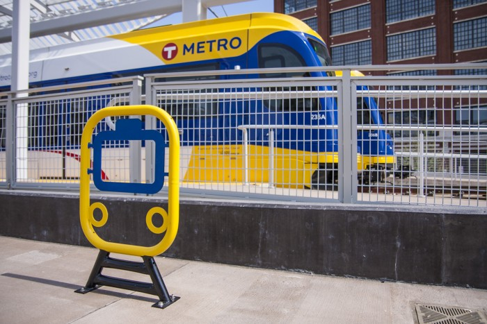 Train rack. Minneapolis, MN.