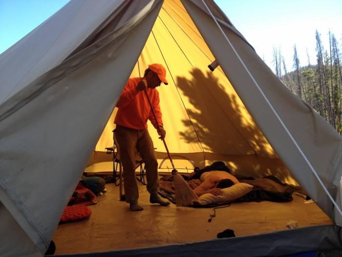 & Modernized Canvas Tent: Spacious Backwoods Comfort