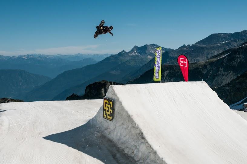 Snowboard Slopestyle Jump