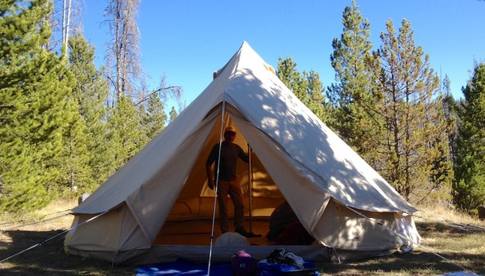 Modernized Canvas Tent Spacious Backwoods Comfort