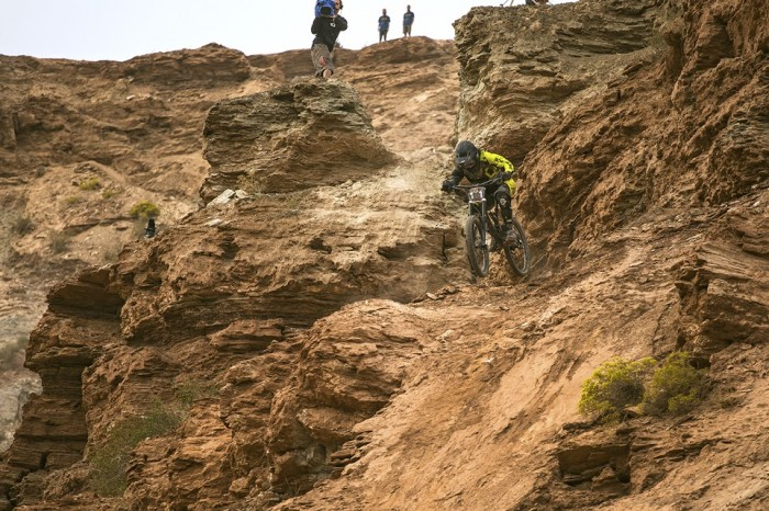 Mitch Chubey charges through insanely technical terrain