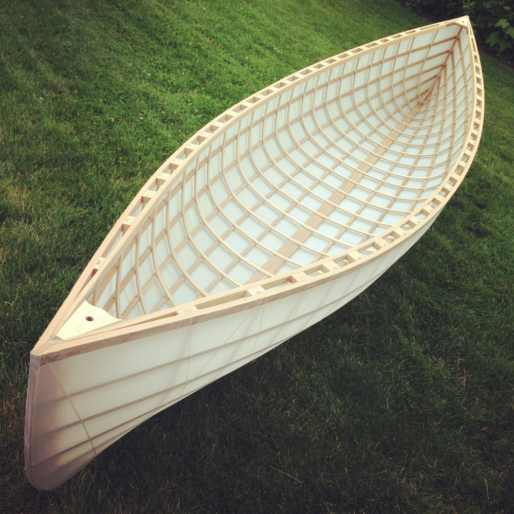 South street skin on frame canoe