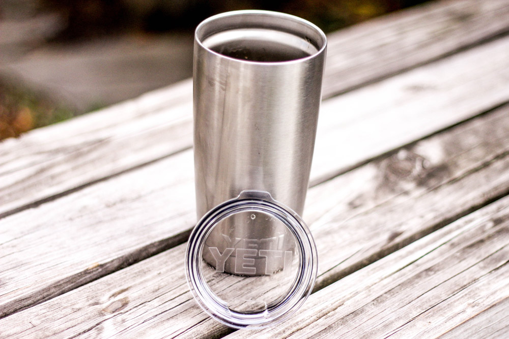 Yeti Rambler Tumbler and cap