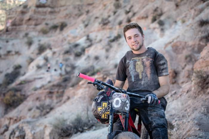 Nicholi Rogatkin poses for a portrait during the Red Bull Rampage in Virgin, UT, USA on 13 October, 2015.