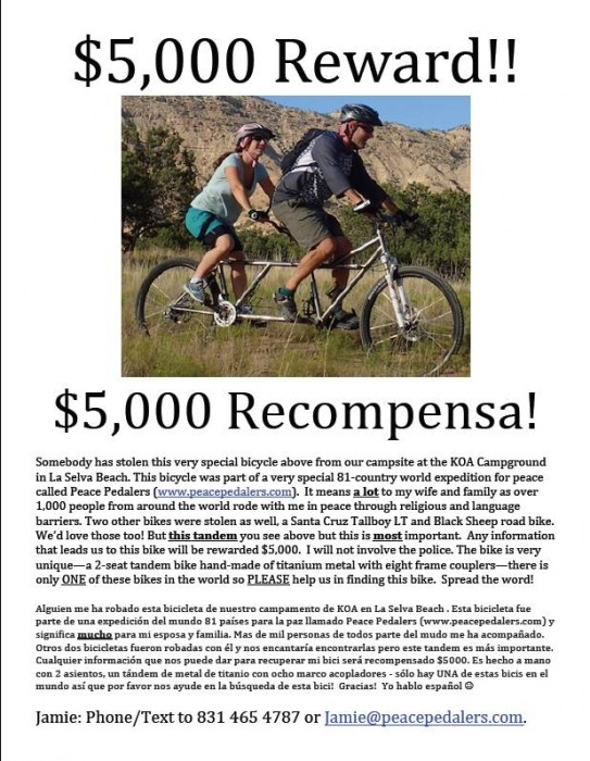 5000 Reward For BIke