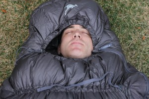 Thylacine sleeping bag head