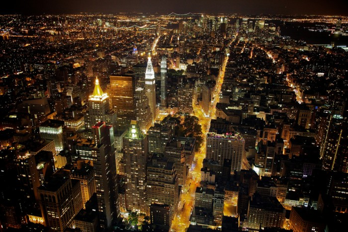 The lights of New York twinkle in many people's dreams; photo by Aurelien Guichard