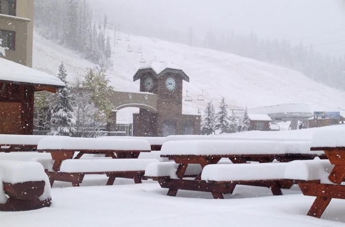 UPDATE: This photo was taken at Big Sky on the morning of Tuesday, Nov 3