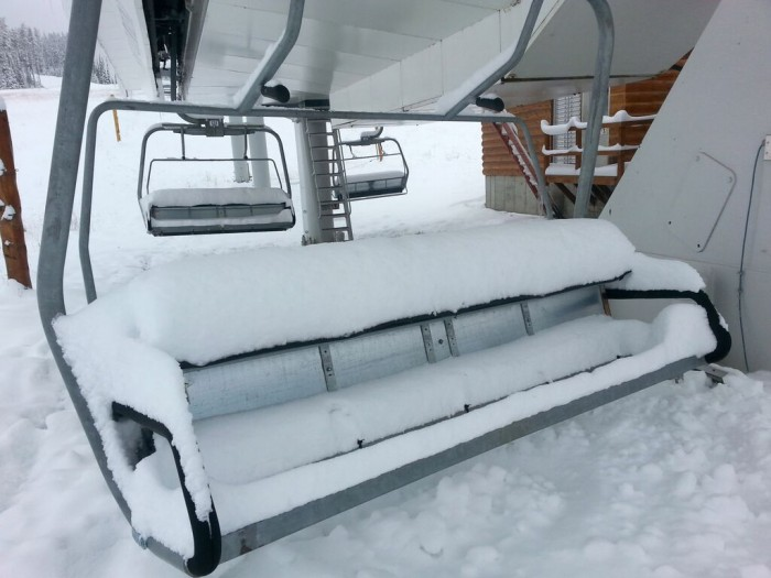 "Big Sky recorded 20"" of snow on Wednesday."