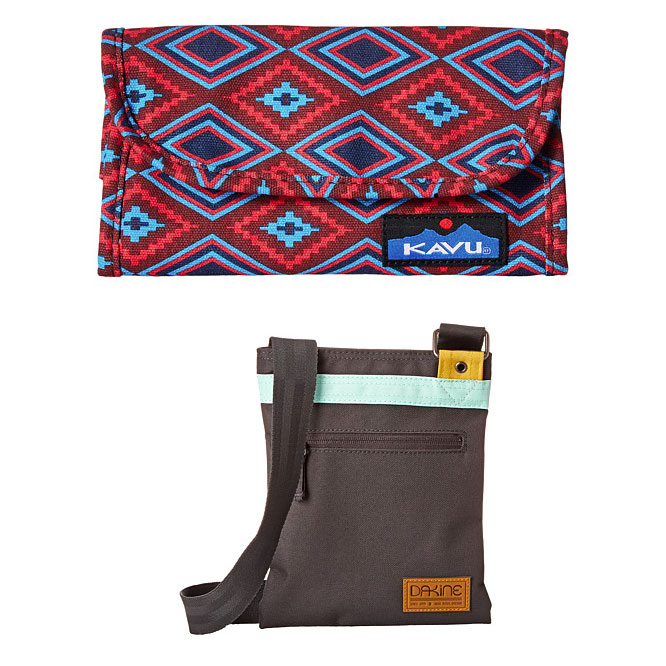 Kavu and dakine tote bags