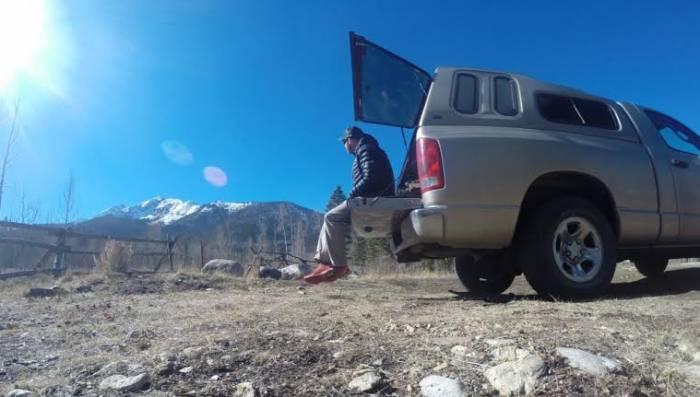 living in truck
