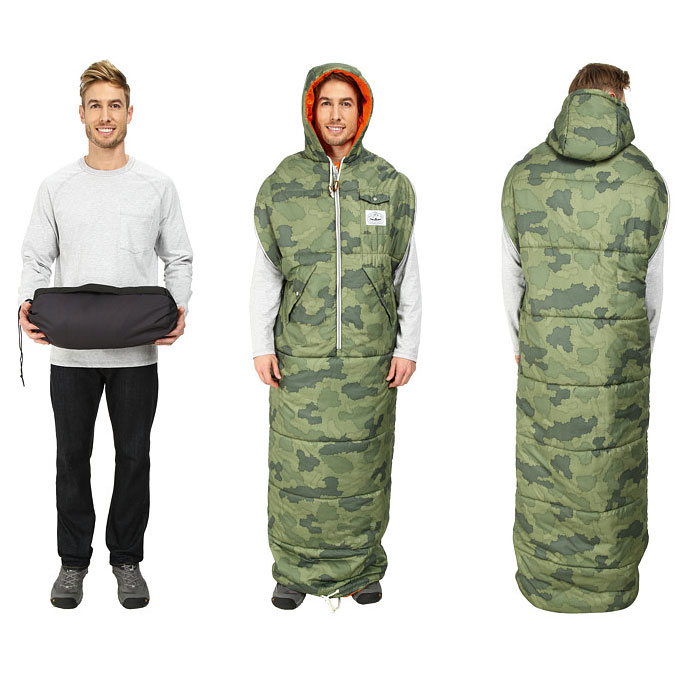 Poler knapsack wearable sleeping bag