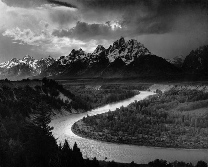 The Tetons and the Snake River; photograph by Ansel Adams