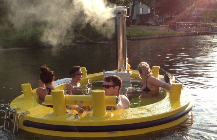 HotTug - The Wood-Fired Hot Tub That's Also A Boat