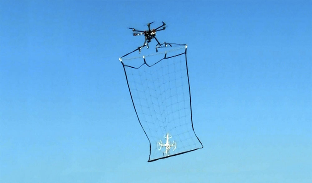 catching-drone-in-net