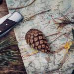 outdoor gifts holiday knife pinecone map