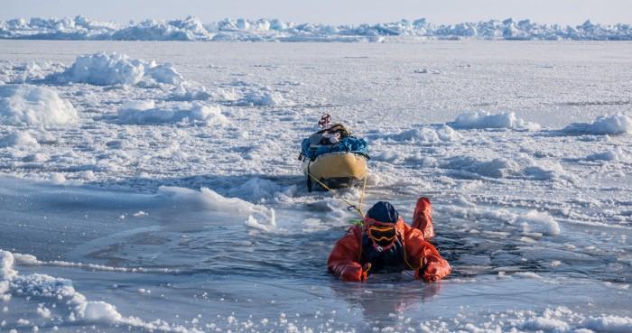 swimming arctic water