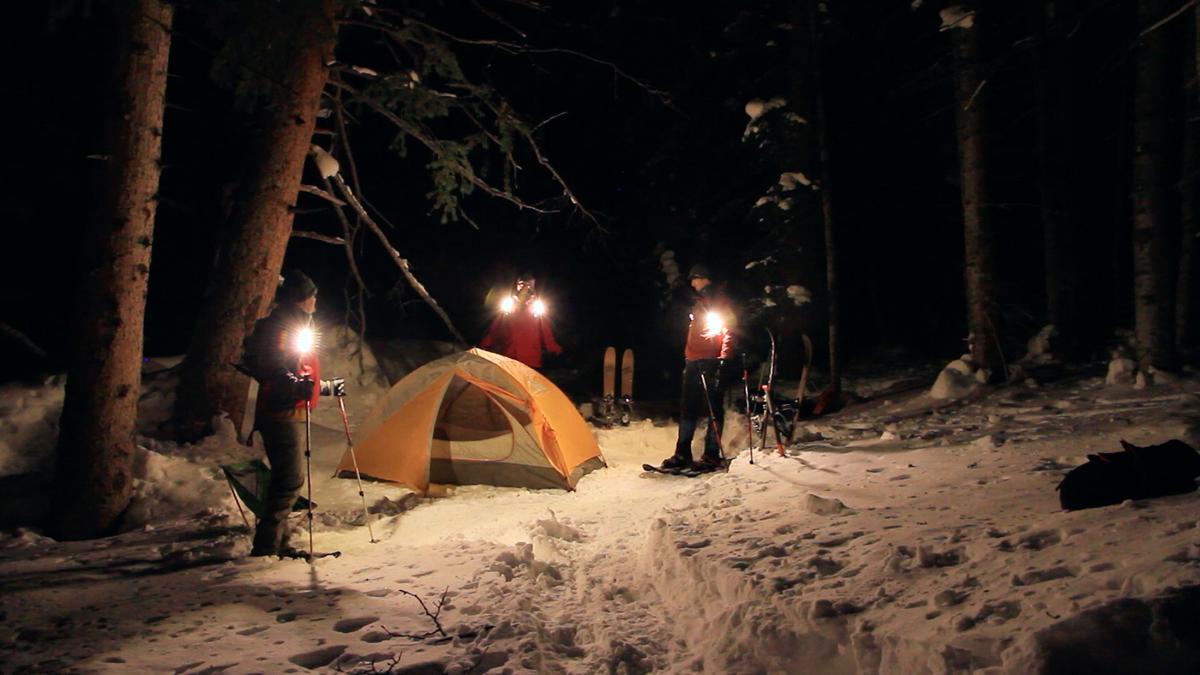 Snowshoing Camp