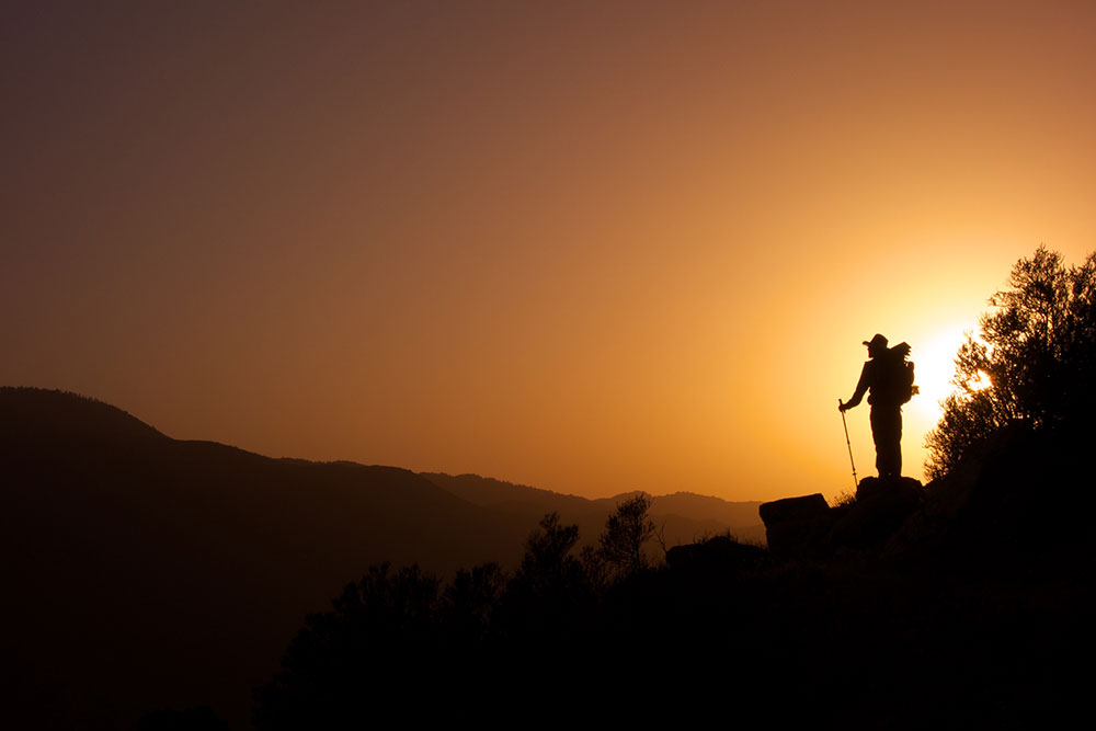 hiker-at-sunset