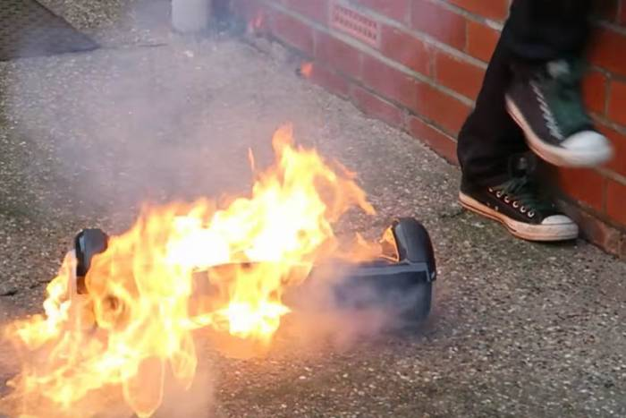 hoverboard catch on fire