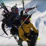 paraglide ski drop
