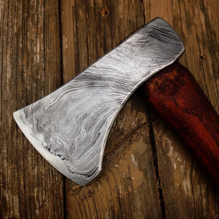 A wrought iron hatchet