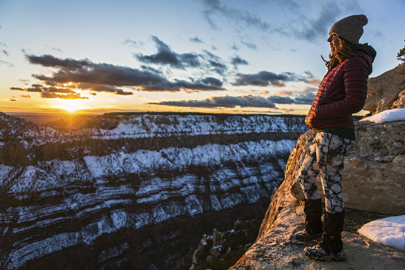 Winter Trip Backpacking Grand Canyon Rim To Rim To Rim Gearjunkie