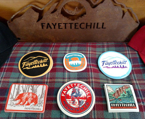 Small stickers and patches helped launch Fayettechill
