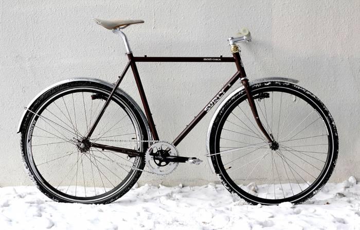 Winterized urban bike