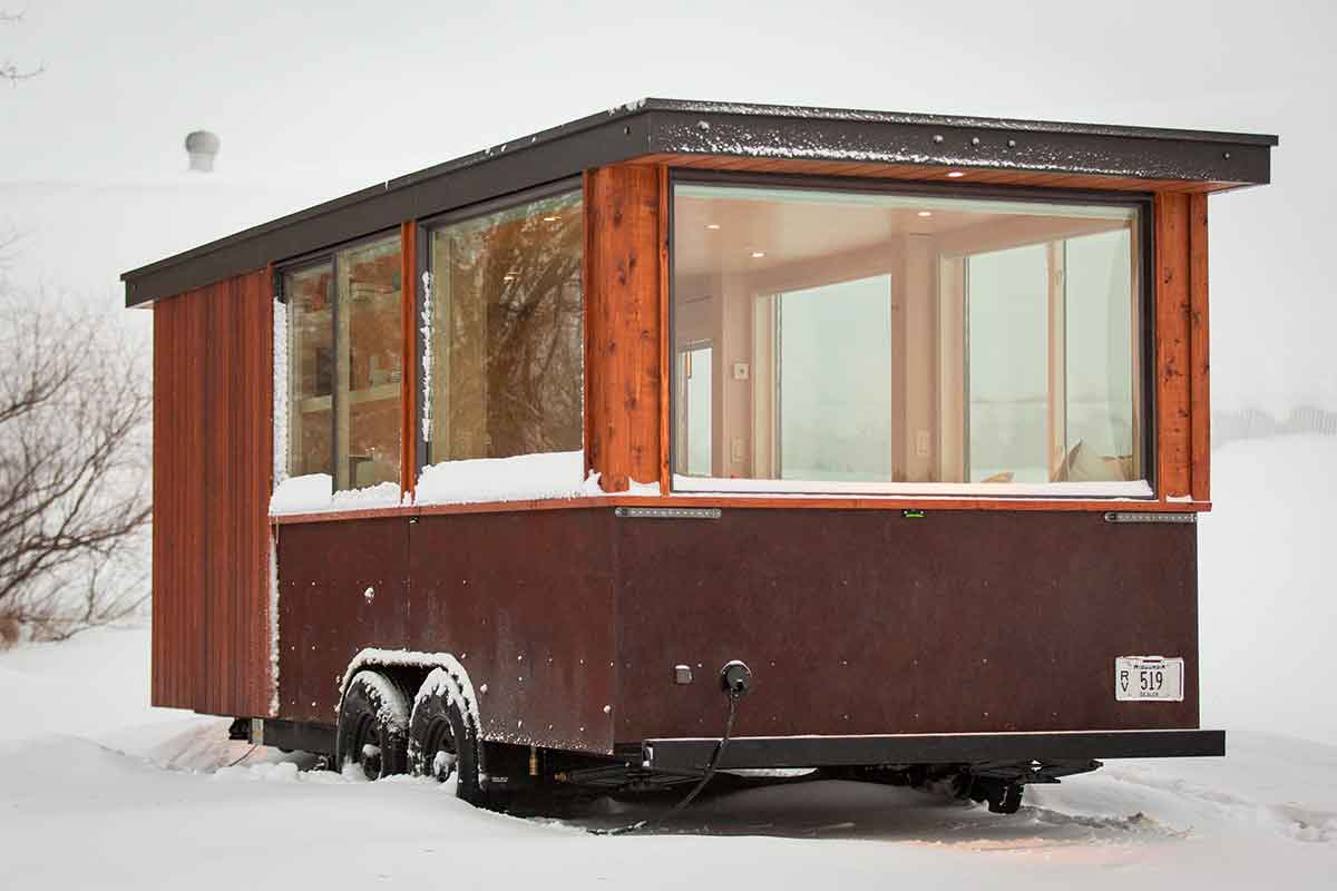 Super Towable Tiny House Cabin On Wheels Largest Home Design Picture Inspirations Pitcheantrous